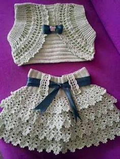 # crochet clothes for kids Crochet Baby Set Baby Knitting Patterns, Knitting For Kids, Crochet For Kids, Baby Patterns, Crochet Patterns, Crochet Summer, Baby Set, Crochet Skirt Pattern, Crochet Cardigan Pattern