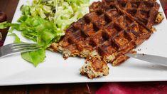 Recette de Gaufres salées de Thibault Geoffray - Cuisine Test Cooking, Breakfast, Food, Detox, Eat Healthy, Cooking Recipes, Savory Waffles, Healthy Eating Recipes, Kitchen