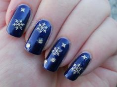 blue with snowflakes
