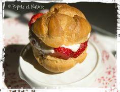 © Popote et Nature - Petits choux aux fraises et à la mousse de pêche