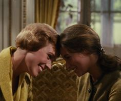 Julie andrews and Charmian Carr.