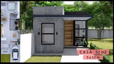 Small House Layout, Small Modern House Plans, House Layouts, Home Building Design, Home Design Plans, Building A House, 2 Storey House Design, Bungalow House Design, 20x40 House Plans