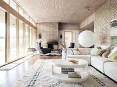 Yellow brick house from the 60´s interior by Dysign photo Marcus Lawett