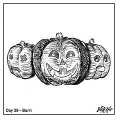 #inktober for #inktoberburn definitely not one of my best by far.... but at least i finished it and learned something XD