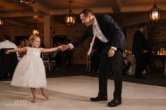 Naples Yacht Club Wedding Reception | Flower girl dancing with dad | Elegant Destination Wedding |  Photo credit: Zee Anna Photography Click here to see more: http://www.djdayve.com/
