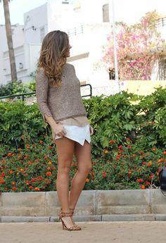 Zara  Jerseys, Sheinside  Pantalones cortos and Zara  Tacones / Plataformas