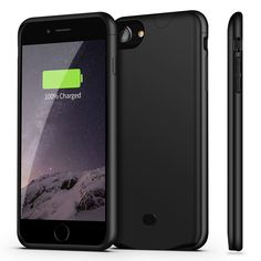 iPhone 7 Battery Case, Sgrice Ultra Slim Lightweight Portable Charger for iPhone 7(4.7 inch) with 2700mAh Capacity/External Juice Pack Charger Case-Black. [IMPORTANT NOTE]: Not compatible with Apple stock or traditional 3.5mm headphones. ONLY compatible with Apple Airpod Bluetooth headphones or any other wirelessly connected headphone accessories. Specifically designed for iPhone 7 / 8. [HIGH CAPACITY&LONG LIFE]: Built-in 2700mAh genuine High Quality Lithium polymer rechargeable battery...