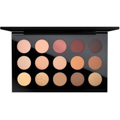 MAC Eye Shadow x 15, Eyes on MAC Collection ($65) ❤ liked on Polyvore featuring beauty products, makeup, eye makeup, eyeshadow, beauty, palettes, filler, warm neutral, mac cosmetics and palette eyeshadow