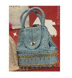 Patron pdf de tejido en crochet la bolsa de por Liloumariposa