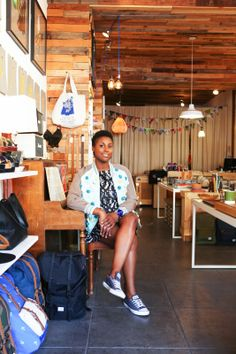 On The Streets Of L.A. With Awkward Black Girl's Issa Rae #refinery29  http://www.refinery29.com/neiman-marcus-on-the-verge#slide16