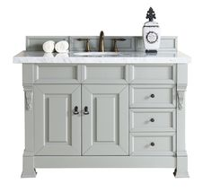 "Bosco Brookfield 48"" Urban Gray w/ Drawers Single Vanity Soft-Close Doors/Drawers - Cole Sales Group"