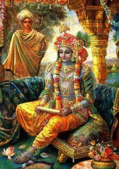 Lord Krishna .