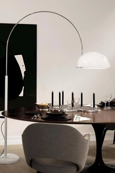 Coupe Arc Floor Lamp by Joe Colombo for Oluce Designed in 1967, it still fits right in for mid-century, this century.