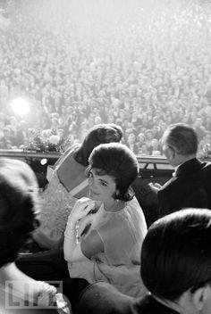 Jacqueline Kennedy at JFK's Inauguration via LIFE...