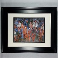 1965 Riders in the Forest by Raoul Dufy, Unique Strokes VTG Print, Matted Framed