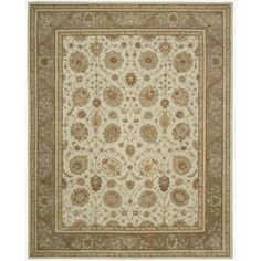 Nourison Hand-tufted Heritage Hall Pastel Blue Wool Rug (8' x 8' - Freeform), Size 8' x 8'