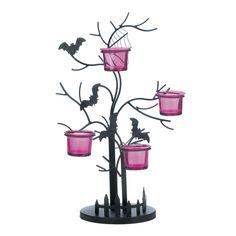 Halloween Decor - Spooky Bat Spider Candleholder- Scary Horror Decoration