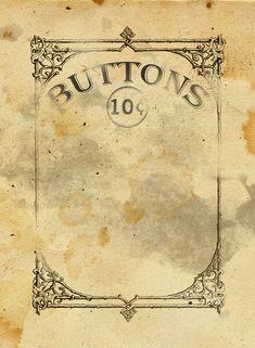 Free Vintage Button Card Printable Download