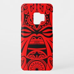 Polynesian tiki mask tattoo totem face case for iPad air