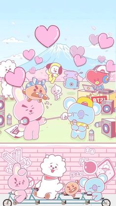 Get Latest Bts Anime Wallpaper IPhone Kawaii Wallpaper, Wallpaper Iphone Cute, New Wallpaper, Cartoon Wallpaper, Disney Wallpaper, Wallpaper Quotes, Bts Chibi, Bts Wallpapers, Bts Backgrounds