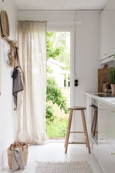 my scandinavian home: My Summer Cottage Kitchen Final Reveal (+ Get The Look)! back / kitchen door entrance to swedish white and grey vibe.