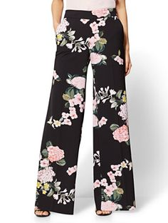 Flying Tomato Off-the-Shoulder Long Bell Sleeve Floral Print Jumpsuit Fashion Pants, Hijab Fashion, Fashion Outfits, Womens Fashion, Fashion Trends, Floral Palazzo Pants, Floral Pants, Square Pants, Streetwear Brands