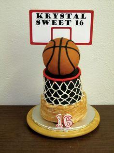 basketball cake i lov basket ball