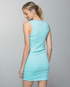 Lululemon In The Flow Dress $88.00Heathered Angel Blue ~