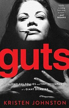 """Guts by Kristen Johnston.  She reminds me of me with the profanity (though I am trying to be better!).  She's recovering from a long battle with both alcohol and pill addictions;  I am recommending this book to all my clients who struggle.  Johnston's book really helps the reader understand """"how it happened"""" given her own traumatic childhood background/experiences.  A great read!"""