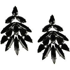Roberto Cavalli Earrings ($210) ❤ liked on Polyvore featuring jewelry, earrings, bijoux, black, roberto cavalli jewelry, roberto cavalli earrings, roberto cavalli, metal jewelry and metal earrings