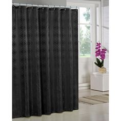 Duck River Crystal Jacq Shower Curtain Black