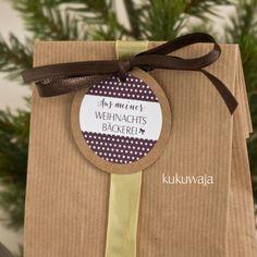 geschenke aus der küche / blockbodenbeutel / kraftpapier / xmas / weihnachtsbäckerei via www.kukuwaja.de