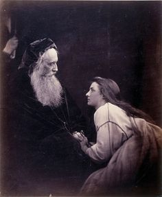 Prospero and Miranda, c 1865, by Julia Margaret Cameron: the sitters, Sir Henry Cotton and Mary Ryan, later married.