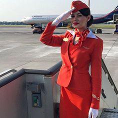 Aeroflot stewardess...image Instagram