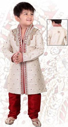 Buy Boys Sherwani from Hobarts, Delhi, India Little Boy Outfits, Baby Boy Outfits, Cool Outfits, African Wear, Indian Wear, Baby Boy Ethnic Wear, New Trend Dress, Boys Kurta Design, Sherwani Groom