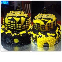 Boys 7th and 5th Batman Birthday Cakes
