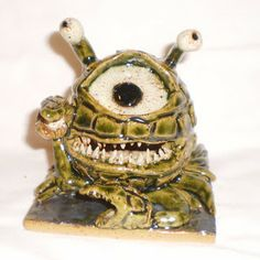 Eye of the Deep sculpture, briny cousin to the beholder.