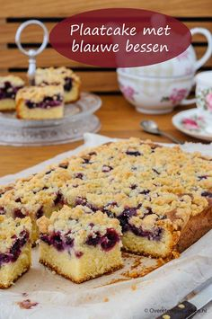 Plate cake with blueberries - Blueberry Plate Cake – Delicious cake with a fine crumb layer that just can& fail. Sweets Cake, Cupcake Cakes, Baking Recipes, Cake Recipes, Diet Cake, Healthy Cake, Lchf, Cakes And More, Cake Cookies