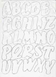 Letras super way Stencil Lettering, Hand Lettering Fonts, Graffiti Lettering, Lettering Styles, Alphabet Templates, Letter Stencils, Printable Letters, Alphabet And Numbers, Applique Patterns