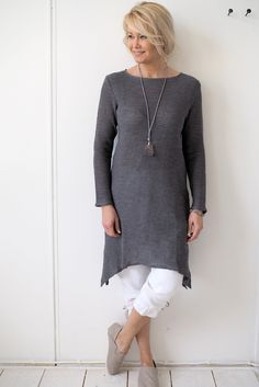 PARIS Knitted Linen Dress, GREY - BYPIAS Linen Knits - BYPIAS