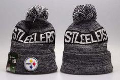 5bb5254fa Men s   Women s Pittsburgh Steelers New Era NFL Sideline Sports Knit Pom  Pom Beanie Hat - Grey   Black