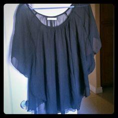Sheer black blouse Beautiful sheer black blouse. Make an offer. Old Navy Tops Blouses