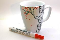 Create your own coffee mug that is dishwasher safe! There are step by step instructions to creating an artwork for your next painting class!