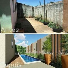 Liked Photos - null Outdoor Patio Designs, Backyard Pool Designs, Small Backyard Pools, Swimming Pools Backyard, Backyard Landscaping, Outdoor Decor, Small Pool Design, Pool Houses, Exterior Design