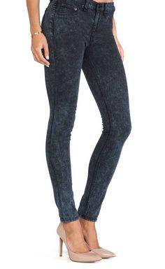 NWT rag & bone / Jean JUSTINE SKINNY High Rise 26 Rosebowl NAVY USA MADE $198 #ragbone #SkinnyJeans