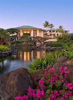 The spectacular Grand Hyatt Kauai Resort