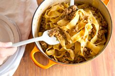 Lighten up! This hearty Bolognese is low on calories, high on flavor