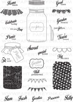 PapertreyInk - Jar Stamp Set - want it mostly for all the cute filler add on sets they have! $24