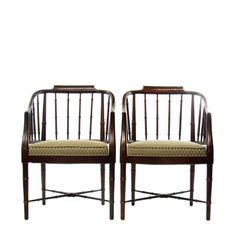 Baker Faux Bamboo Chairs Pair by LuxeArtifacts on Etsy