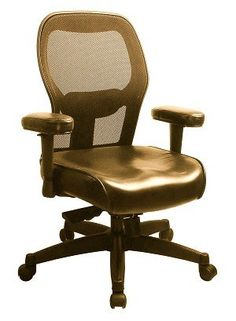 Task office chair - Pin it :-) Follow us :-)) AzOfficechairs.com is your Office chair Gallery ;) CLICK IMAGE TWICE for Pricing and Info :) SEE A LARGER SELECTION of  task  office chair at http://azofficechairs.com/category/office-chair-categories/task-office-chair/ - office, office chair, home office chair - Therasage Elite Task Mesh Back Chair – Leather – Brown – Seat « AZofficechairs.com